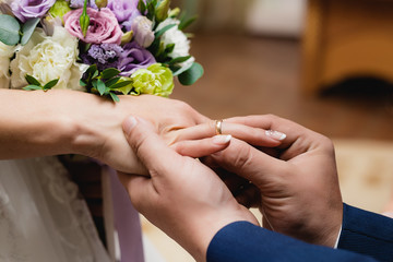 picture man and woman wedding rings
