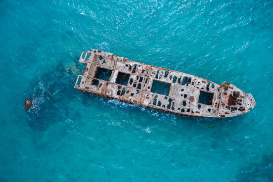 Sapona Shipwreck of The Bahamas in the Caribbean Sea