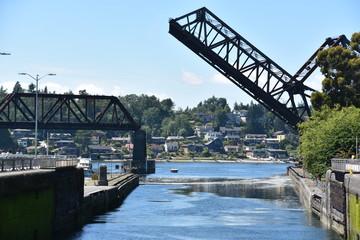 Hiram M. Chittenden Locks (Ballard Locks) in Seattle, Washington
