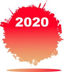 2020年の日本の年賀状素材