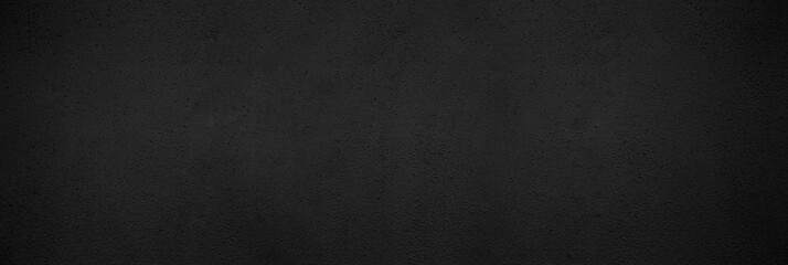 Panorama black wall texture pattern rough background. Old black grunge background. Dark wallpaper copy space for design. Fototapete
