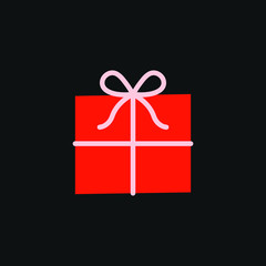 gift box vector on a black background