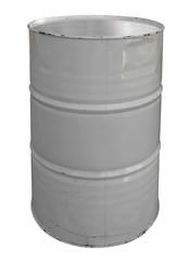 Single white metallic barrel