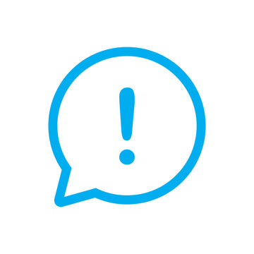 exlclamation mark icon, attention icon vector
