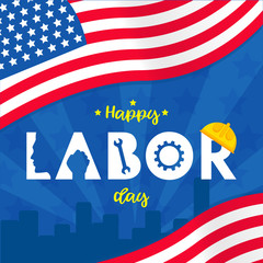 Labor day background design vector template graphic or banners  illustrations