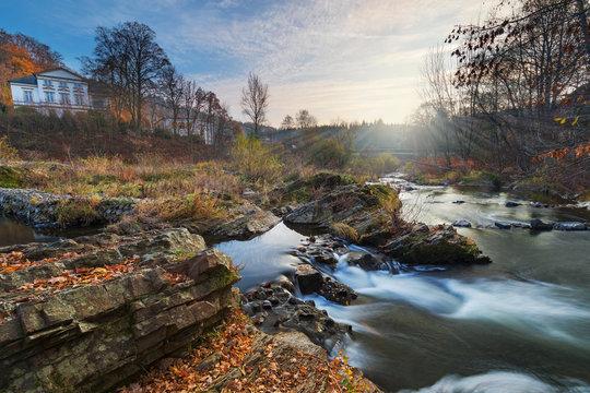 Siegwasserfall bei Schladern in Nordrhein-Westfalen