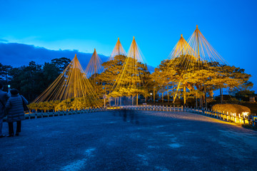 Wall Mural - Light up in Kenrokuen Garden at night in Kanazawa, Japan