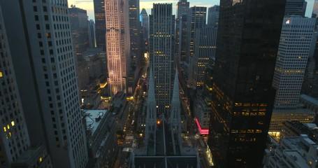 Fototapete - New York City manhattan buildings midtown skyline