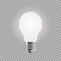 Light bulb. Realistic style lamp. Isolated