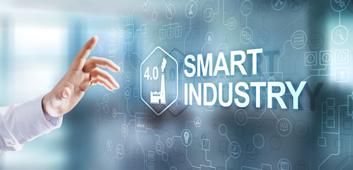 Smart industry 4.0. Automation Technology innovation Internet concept.