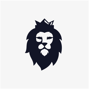 lion head vector icon illustration logo design