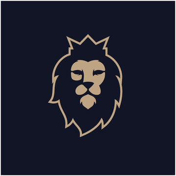 lion head vector icon illustration logo design
