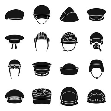 Isolated object of traditional and armed sign. Collection of traditional and officer vector icon for stock.