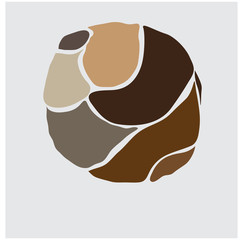 creative ball graphic in brown warm tones ball graphic in brown warm tones