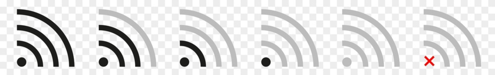 Wireless | Internet Connection | Signal Icon | Isolated Transparent