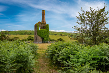 Old mine building , caradon hill  cornwall