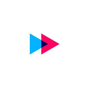 forward icon in overlapping style logo vector illustration