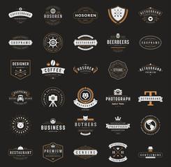 Retro Vintage Logotypes or insignias set. Vector design elements