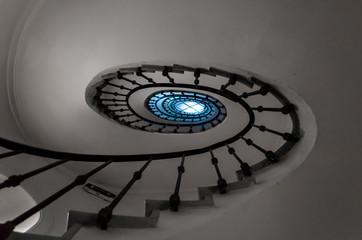 Foto op Canvas Spiraal Una spirale di scale