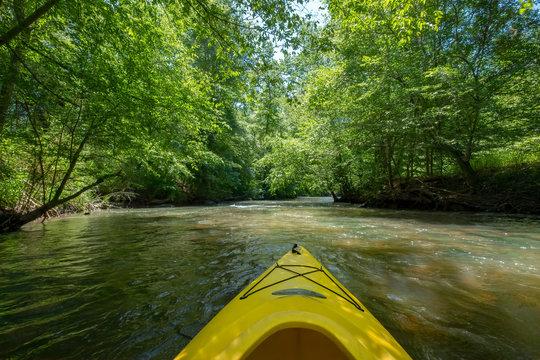 Kayaking on the Catawba River, Landsford Canal State Park, South Carolina