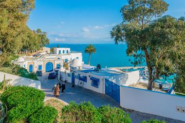 Sidi Bou Said near Tunis in Tunisia.