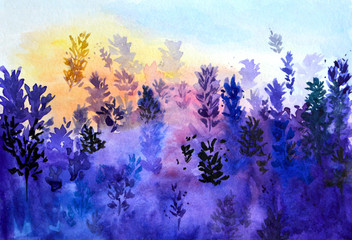 abstract stains watercolor color background lavender