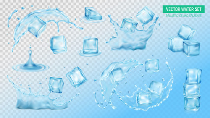 Ice Cubes Water Set