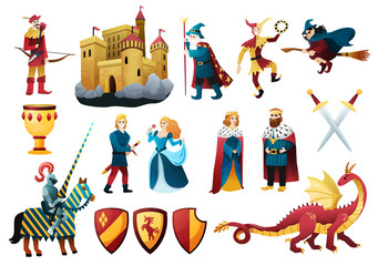 Medieval Kingdom Elements Set Wall mural