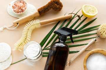 natural ecological friendly homemade cleaning tools
