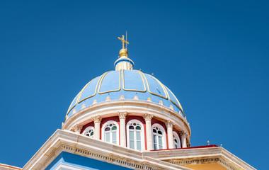 Fotomurales - Dome of Saint Nicholas Church in Ermoupoli, Syros Island.