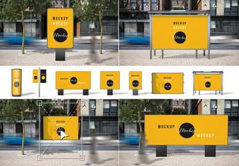 Street Advertising Scene Generator Mockup