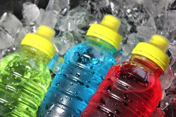 Sports energy drinks on ice.These drinks are a great way to replace water and electrolytes lost through sweating after activity. Electrolytes such as potassium, calcium, sodium, and magnesium.