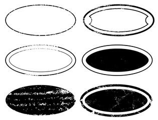 A Blank Ellipse postal stamps set.illustration vector