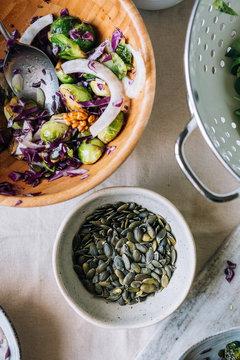 Delicious autumnal salad