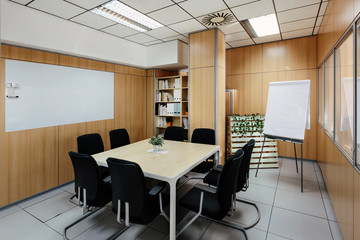 Meeting room in Modern Trendy Coworking Office