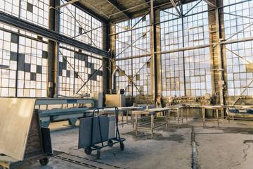 Interior of Industrial Stone Workshop
