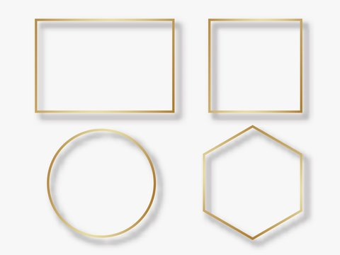 Golden circle and square frame