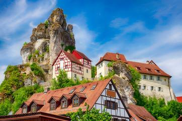 Felsendorf Tüchersfeld in der Fränkischen Schweiz, Bayern