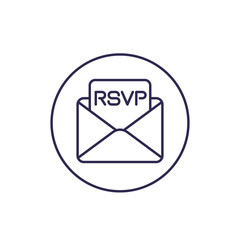 RSVP icon, line vector design