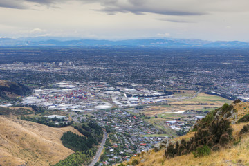 Aerial view of Christchurch, New Zealand