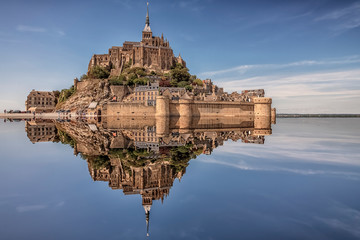 Mont Saint Michel, an UNESCO world heritage site in Normandy, France Wall mural