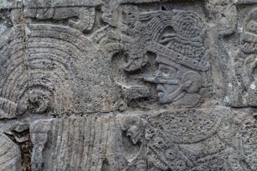 Fotobehang Fontaine Chichén-Itzá, Yucatan / Mexico - July, 24, 2019: Chichen Itza Archaeological site