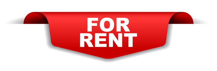red vector banner for rent