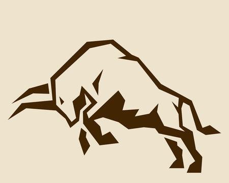 雄牛のイラスト Bull vector illustration silhouette