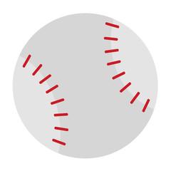 Baseball ball simple illustration on white background