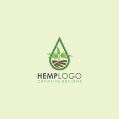 hemp field, hemp distillation oil garden cannabis icon vector logo art illustration