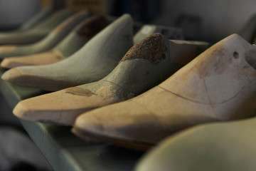 革靴制作に使う足の型