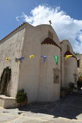 ein kloster auf kreta, griechenland