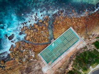 Poster Océanie Ocean pool