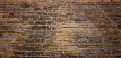 Old brick wall texture background. Vintage grunge architecture or interior design abstract texture.